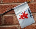 HAND WAVING FLAG (SMALL) - Somerset